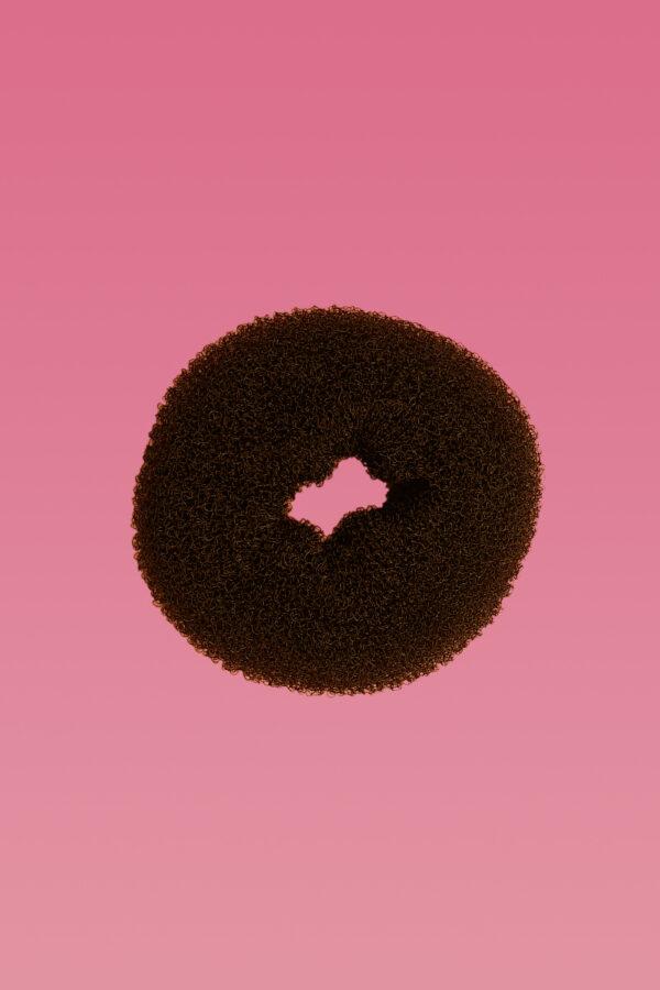 Hair Donut Brown Large-0